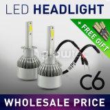 Linternas H1, H3, H4, H7, H8, H9, MAZORCA 1pair de la venta LED C6 del coche de H11 6000K 3000K LED