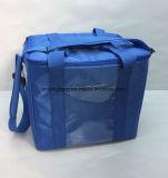 Bleu sac refroidisseur thermique de balle surdimensionnée en nylon avec bandoulière réglable