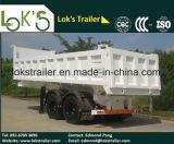 De hydraulische Aanhangwagen van de Kipper van het Afval van de Grond van 2 Assen