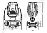 DMXの小型150WディスコライトLED Sharpyビーム移動ヘッド