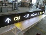 Pylon Teken van binnen Binnenlandse LEIDENE van het Aluminium van de Uitgang van de Ingang van de Vloer van de Wandelgalerij Wayfinding van de Folder