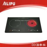 Alemania EGO y Schott Cocina de inducción de 2 quemadores y cocina de infrarrojos modelo Sm-Dic13b2