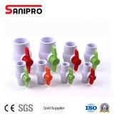 """Sanipro 1/2""""-4"""" Clapet à bille plastique PVC la valve de l'approvisionnement en eau"""