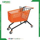 150L plastic Boodschappenwagentje met de Mand van het Metaal voor Supermarkt