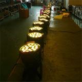 DMX fase 18x18W UV RGBWA LAVAGEM LED 6 em 1 par de Zoom 64