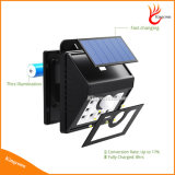 Nuevo Solar Powered 8 LED de la lámpara de detección de movimiento de Iluminación de jardín al aire libre Camino del punto de emergencia