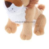꼭 껴안고 싶은 연약한 유아를 위한 견면 벨벳 동물성 사자 견면 벨벳에 의하여 채워지는 장난감