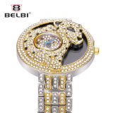 Таким образом Belbi женщин Quartz часы с ОС Snow Leopard Diamond дизайн Wristwatch быстрого набора