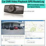 Gravador de câmara Dash 2.7inch com GPS Logger, Google Map rota de rastreamento por GPS, recordar de limite de velocidade, Detecção de Movimento Carro Caixa Preta, Gravador de Vídeo Digital da Sony