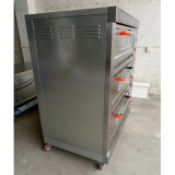 Horno al por mayor de la cubierta de la pizza del equipo de la máquina de la hornada para la panadería con 3decks 6trays