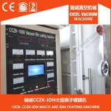 Cer zugelassene Glasspiegel-kastenähnliches VakuumaluminiumMetallizng Maschine für ABS Plastiksubstratfläche