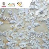 Vorzügliche Blume der Hochzeits-Kleid-Spitze-Stickerei-3D mit Raupen 129