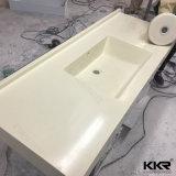 Kingkonreeのホテルのプロジェクトのための固体表面の浴室の虚栄心の上
