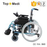 Alluminio di Topmedi che piega la sedia a rotelle staccabile di energia elettrica per gli handicappati