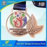 El metal modificado para requisitos particulares profesional del recuerdo se divierte el medallón con la cinta