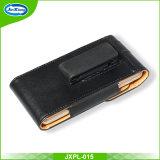 Premium Black Belt Holster Bolsa de malha de couro horizontal para Samsung Galaxy S8