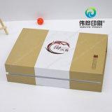 Papel impresión de la caja de la piel productos para el cuidado cosmético, caliente sellado de oro y en relieve
