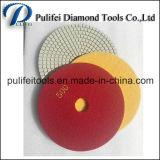 Almofada de polonês molhada da resina concreta do diamante para o polonês do assoalho