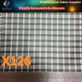 Tela teñida hilado de la ropa de la verificación de Polyestr de las mercancías de los puntos (X124-126)