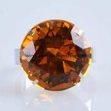 50mm kleiner bernsteinfarbiger Farben-Diamant-Serviette-Halter-Ring