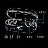 Fone de ouvido sem fio verdadeiro de Bluetooth do projeto portátil compato