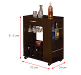Gabinetes de cozinha de madeira laminados MFC modernos do armário (HX-DR466)