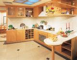 食器棚のモデル熱販売の完全なエッジングおよびドアの表面のチェリーの純木の食器棚