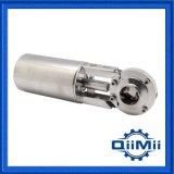 Gesundheitlicher Edelstahl-manuelles/pneumatisches gebetriebenes 304 316L Drosselventil