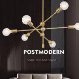 Bronce de interior del estilo postmoderno/metal de cobre amarillo/negro que cuelga las luces de la lámpara pendiente para el comedor