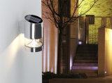 Lumière actionnée solaire de mur de la lampe DEL du jardin extérieur DEL d'éclairage