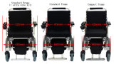 Leichter einfacher Falz-schwanzloser elektrischer faltbarer Rollstuhl