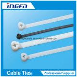 Nylon 66 Zip Ties Gravação Push Ties Material plástico Nylon Cable Ties