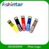 방수 소형 USB 지팡이 클립 플라스틱 USB 펜 드라이브
