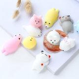Jouets visqueux de silicones de jouet de personne remuante de bébé d'animaux mous libres de poupées