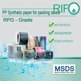 Eco-Friendly Tear Proof Stickers Papel sintético com material BOPP MSDS