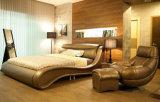 Base elegante nova do couro genuíno da cor-de-rosa da mobília do quarto (HC556)