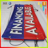 도매 PVC 기치, 코드 PVC 기치 (TJ-003)를 광고하는 비닐 기치