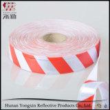 Roter weißer normaler Retro reflektierender bedeckender Band-Aufkleber