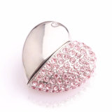Metal Crystal Heart Jewelry USB Flash Drive Memory Stick 1 Go 2 Go 4 Go 8 Go 16 Go 32 Go 64 Go USB Storage