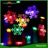 Группа свадебный праздник Рождества освещение красочные снежинка солнечной светодиодный индикатор строки