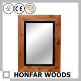 Деревенская серая деревянная рамка зеркала для комнаты гостя гостиницы