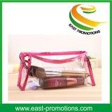 Clairs transparents de PVC imperméabilisent le sac cosmétique de tirette de course