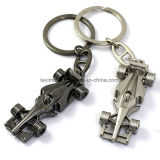 Custom 3D Formula-1 Racing Car Shape Metal Keychain