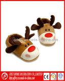 熱い販売のクリスマスのシカのおもちゃのスリッパ