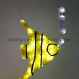 De LEIDENE van het nieuwe LEIDENE Ornament van Vissen Decoratie van Kerstmis voor de Decoratie van het Park