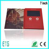 Брошюра 7 карточек цифров экрана дюйма TFT LCD видео-