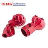 Плита CNC точности подвергая механической обработке алюминиевая с красным цветом анодировала