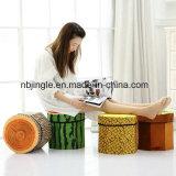 フルーツデザイン円形ファブリック椅子としてFoldable収納箱