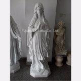 Skulptur chinesisches Weiß-Marmor-Str.-Mary
