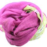 Custom Printed 100% Mulberry Silk Chiffon Crinkle Women Scarf (AMA170609-6)